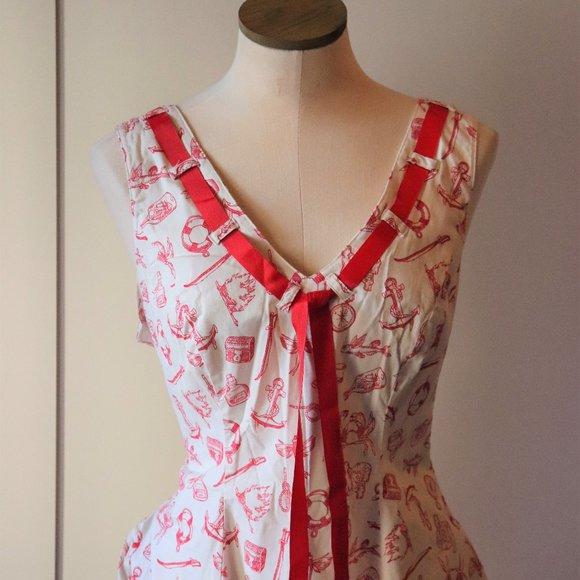 HellBunny Nautical Mini Dress